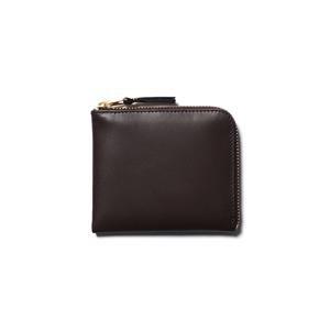 Comme des Garcons WALLET Classic Leather Line Half Zip Wallet Brown