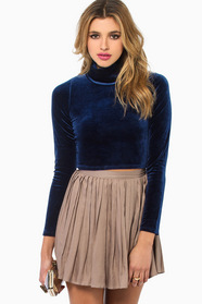 Gloria Velvet Cropped Top