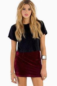 Free Falling Velour Skirt