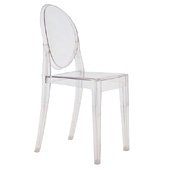 Victoria Ghost Chair, Crystal