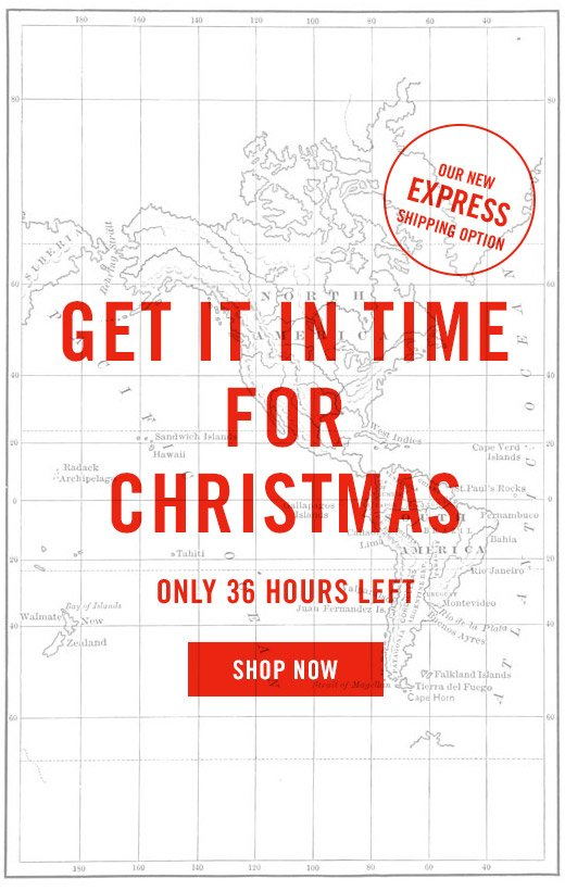 Our New Express Shipping Option - Get It In Time For Christmas - Only 36 Hours Left - Shop Now