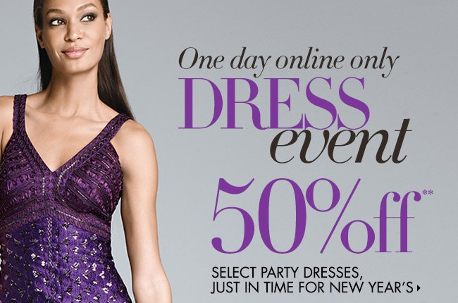 1 Day only: 50% OFF Party  Dresses!