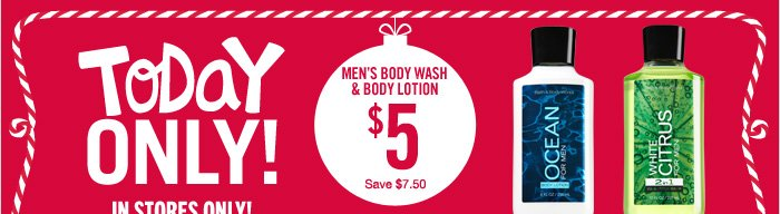 Men's Body Wash & Body Lotion – $5
