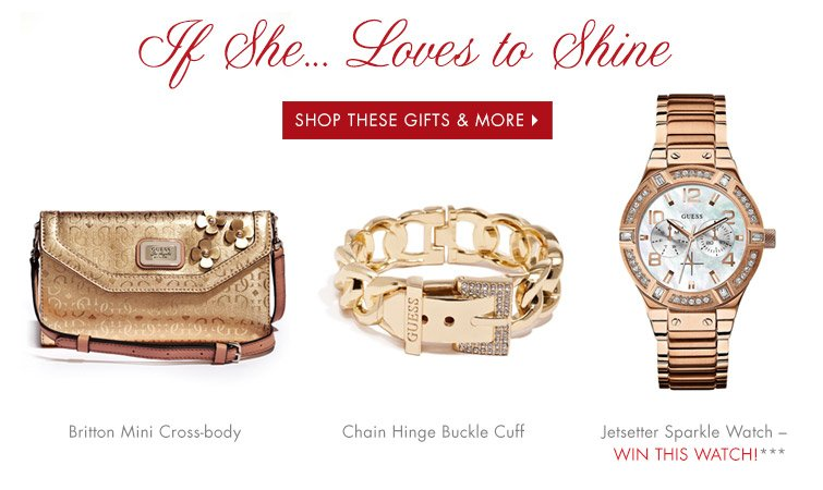 LOVES TO SHINE SHOP THESE GIFTS & MORE