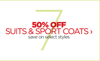 50% OFF SUITS & SPORT COATS  › save on select styles