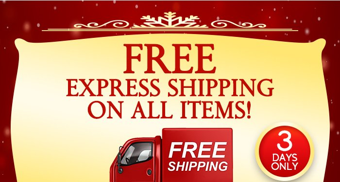 Free Express Shipping On All Items!
