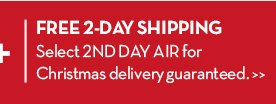 FREE 2-DAY SHIPPING. Select 2ND DAY AIR for Christmas delivery guaranteed.
