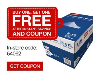 Buy one, get  one free after instant savings with coupon. In-store code: 54062. Get  coupon.