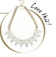 Crystal Stone Collar Necklace