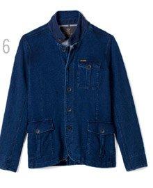 6 - Indigo Fleece Blazer