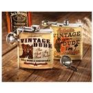 Vintage Dude™ Flask with Funnel
