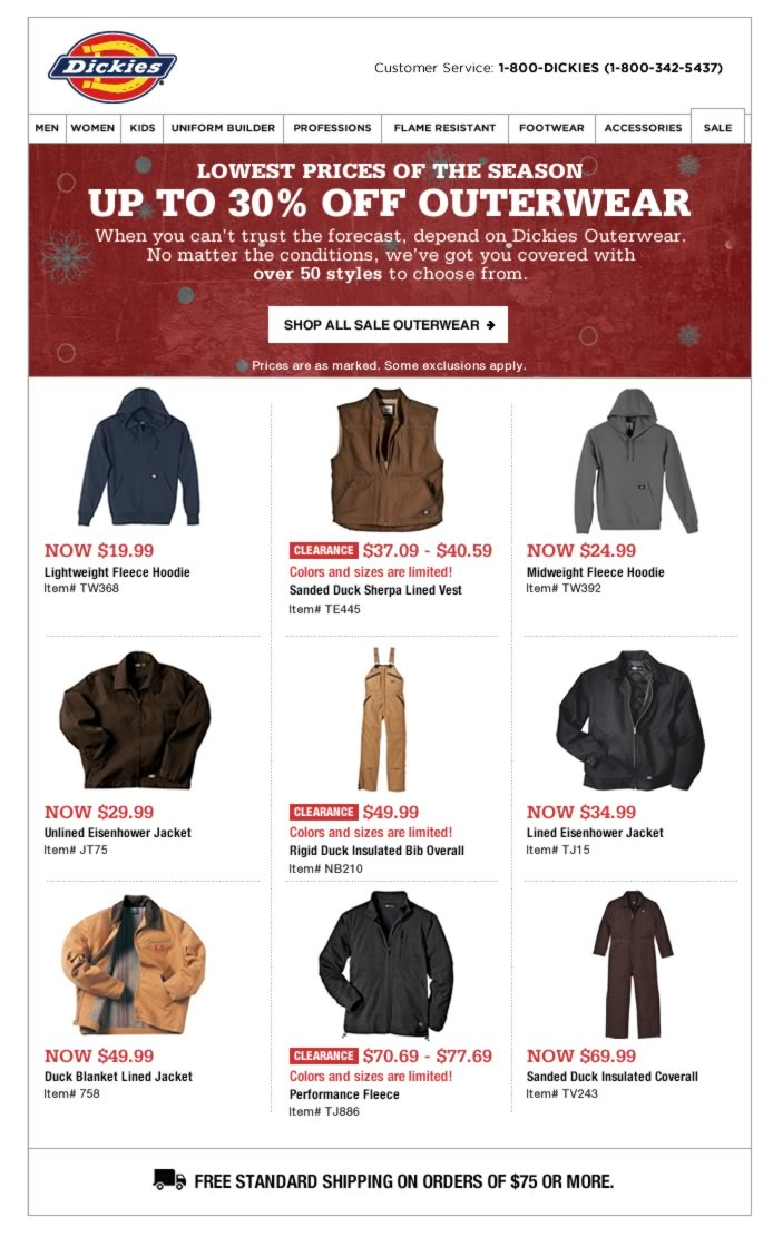 Lowest Prices on Outerwear