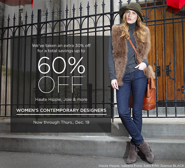 Up to 60% off Haute Hippie, Joie & more