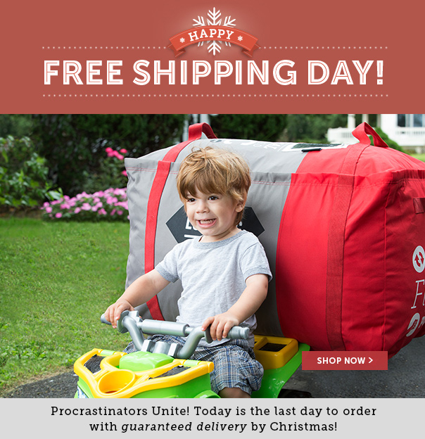 Happy Free Shipping Day! Procrastinators Unite! Today Is the Last Day to Order With Guaranteed Delivery By Christmas!