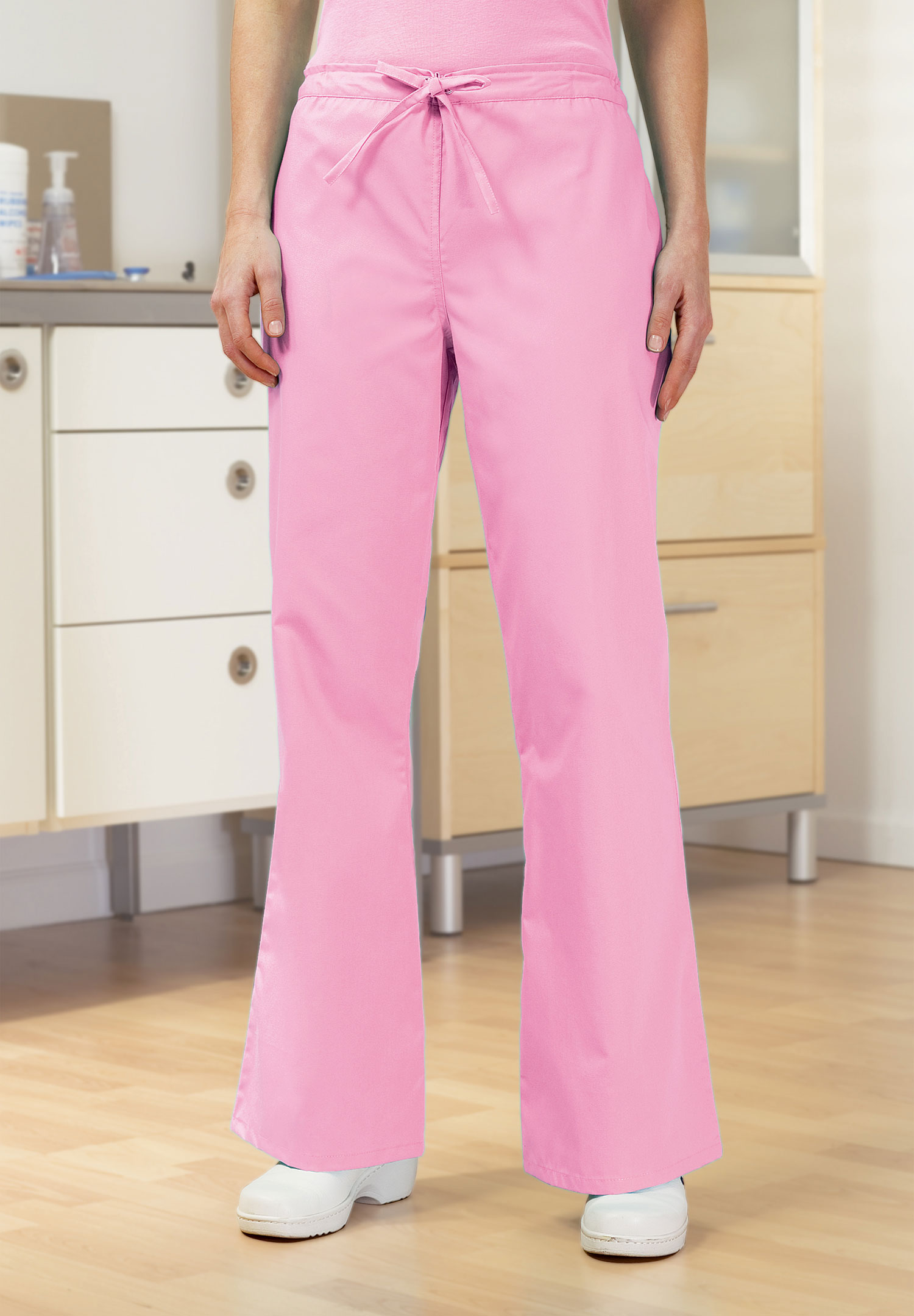 Essentials Flat Front Drawstring Scrub Pant