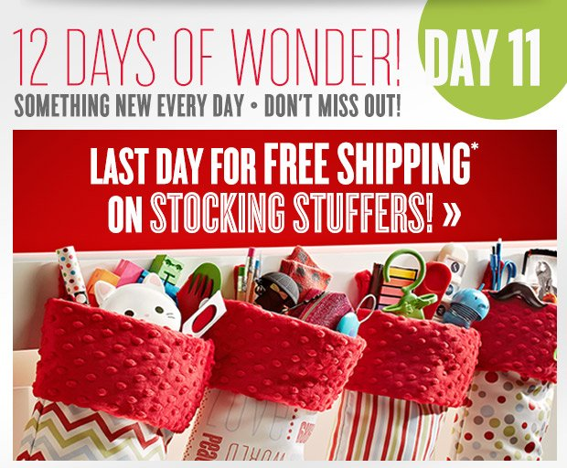 Last Day for FREE SHIPPING...