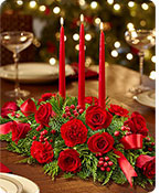 All Red Centerpiece Same-Day Local Florist Delivery