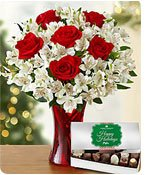 Glad Tidings Rose & Peruvian Lilies  Shop Now