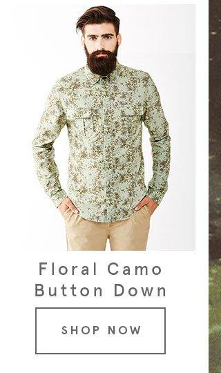Floral Camo Button Down