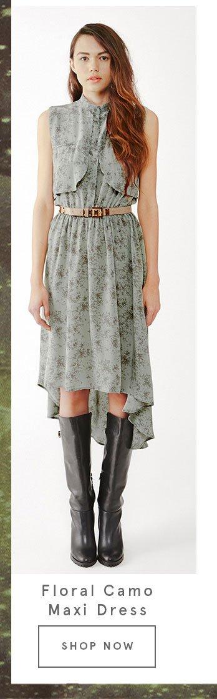 Floral Camo Maxi Dress