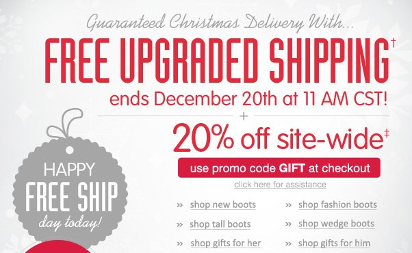 20% Off + FREE Upgraded Shipping!