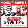 Eibach Holiday Rebate Offer