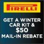 Pirelli Winter Car Kit & $50 Visa Prepaid Card