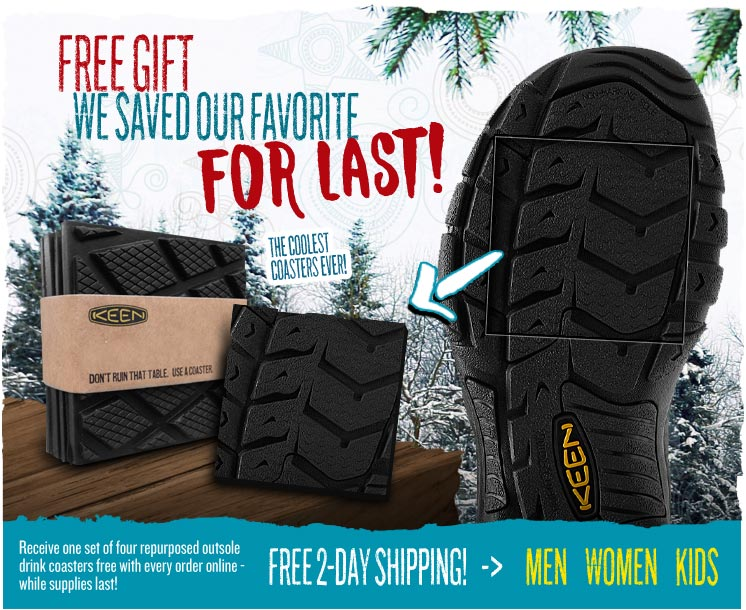 FREE KEEN Coasters with Every Online Order - While Supplies Last!
