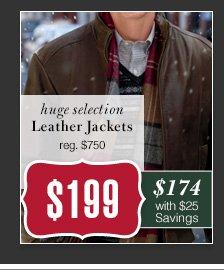 $199 USD - Leather Jackets