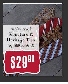 $29.99 USD - Signature & Heritage Ties