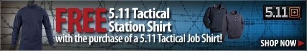 FREE 5.11 Station Shirt with the purchase of a 5.11 Job Shirt
