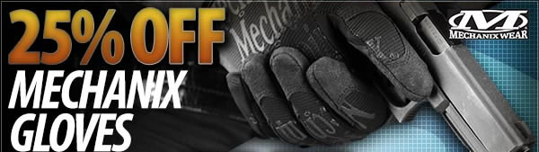 25 Percent Off Mechanix Gloves