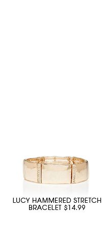 Lucy hammered stretch bracelet.