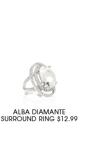 Alba Diamante Surround Ring