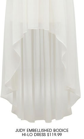 Judy Embellished Bodice Hi-Lo Dress