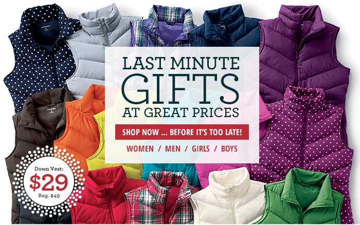 Last Minute Gifts are at great prices!