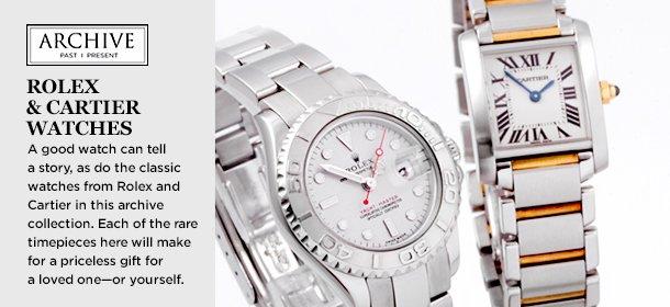 ARCHIVE: Rolex & Cartier Watches