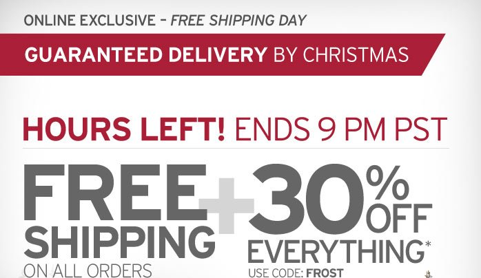 Online Exclusive - Free Shipping Day