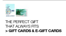 Gift Cards and E-Gift Cards