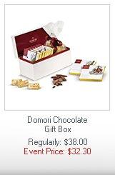 Domori Chocolate Gift Box  Regularly: $38.00 Event Price: $32.30