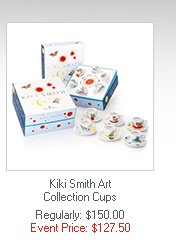 Kiki Smith Art Collection Cups  Regularly: $150.00 Event Price: $127.50