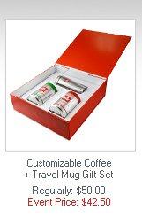 Customizable Coffee + Travel Mug Gift Set  Regularly: $50.00   Event Price: $42.50