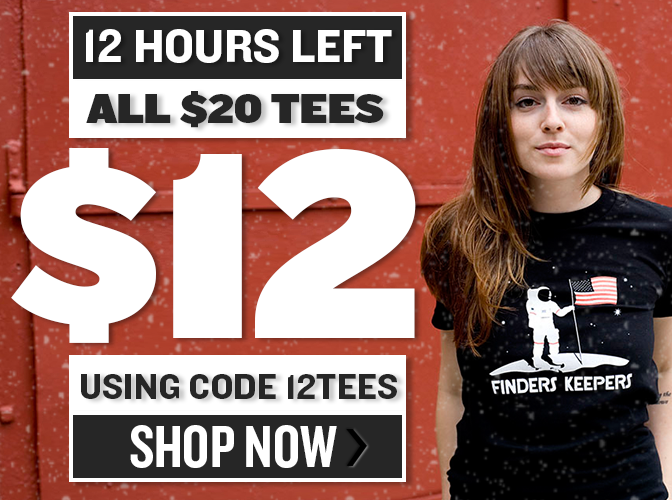All $20 Tees Just $12 With Code 12Tees
