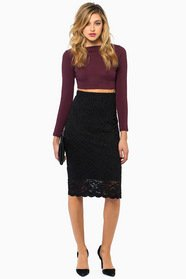 Blackout Lace Skirt