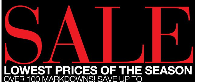 Lowest Prices of the Season Sale! Save Up to 60% Off