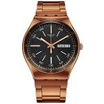 Swatch YGG704G Men's Charcoal Medal Rose Charcoal Dial Rose Gold Tone Steel Watch