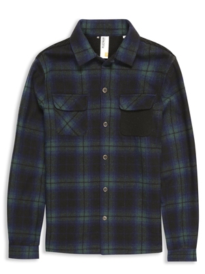 Plectrum Tartan Over Shirt With Knitted Back