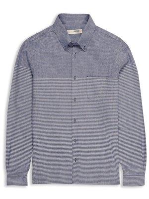 Plectrum Brushed Engineered Fine Stripe Shirt