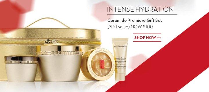 INTENSE HYDRATION. Ceramide Premiere Gift Set ($151 value) NOW $100. SHOP NOW.