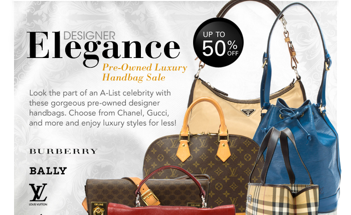 Designer Elegance: Pre-Owned Luxury Handbag Sale. Look the part of an A-List celebrity with these gorgeous pre-owned designer handbags. Choose from Chanel, Gucci, and more and enjoy luxury styles for less!
